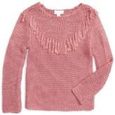 Pumpkin Patch Tiana Fringe Sweater (Little Girls)