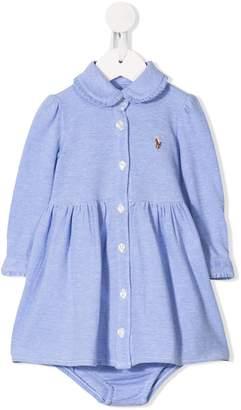 Ralph Lauren Kids Peter Pan collar shirt dress