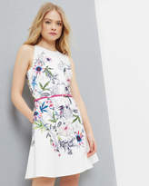 Ted Baker Passion Flower Skater Dress Ivory