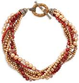 Heidi Daus Women's Carnelian Multi-Strand Torsade Necklace - Red-gold