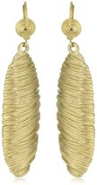 T Tahari Gold Navete Drop Earrings