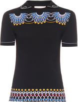 Peter Pilotto Geometric-knit polo shirt
