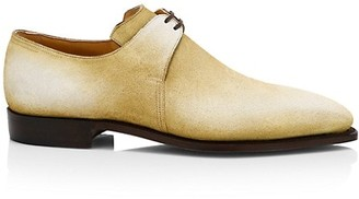 Corthay Arca Pullman Cappucchino Patina Suede Lace-Up Brogue Shoes