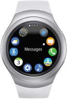 Samsung Unisex Gear S2 Smart Watch with 42mm Stainless Steel Case & White Sport Strap SM-R7200ZWAXAR