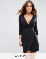 Asos Slinky Wrap Mini Dress