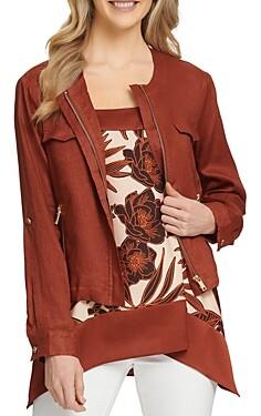 DKNY Roll Tab Zip Front Jacket