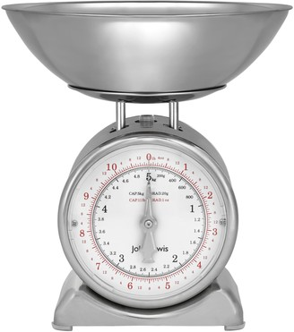 John Lewis & Partners Vintage Mechanical Kitchen Scales, 5kg, Stainless Steel