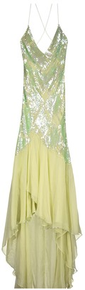Jenny Packham Green Silk Dresses