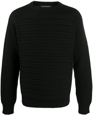 Les Hommes Round Neck Knitted Jumper