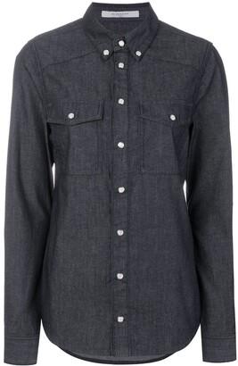 Givenchy Logo Print Denim Shirt