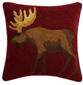 Union Rustic Throw Pillow in , Moose Union Rustic