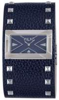Exte Women's EX.4017M/06 Blue Calfskin Band watch.