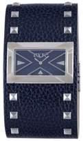 Exte Women's EX.4017M/06 Blue Calfskin Band watch.