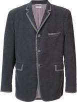 Thom Browne velvet contrast trim blazer - men - Velvet - III