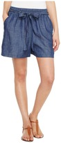 Lucky Brand Tie Front Chambray Shorts in Blue Chambray Women's Shorts