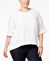 Melissa McCarthy Trendy Plus Size High-Low Top