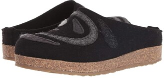 Haflinger Grizzly Harmony (Black) Clog Shoes
