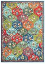 "Blue Area Newcastle Home Jillian Floral Panel Multi and Rug, 5'3""x7'6"""