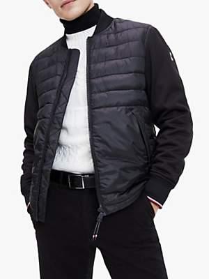 Tommy Hilfiger TH Flex Down-Filled Bomber Jacket, Black