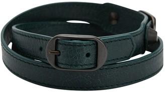 Balenciaga Green Leather Bracelets