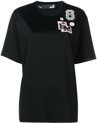Love Moschino patch detail T-shirt
