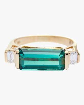Yi Collection Green Tourmaline And Diamond East West Ring