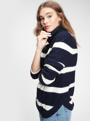 Gap Cable Knit Turtleneck Sweater