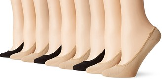 Peds Women's Microfiber Ultra Low Cut Liner with Gel Tab 9 Pairs