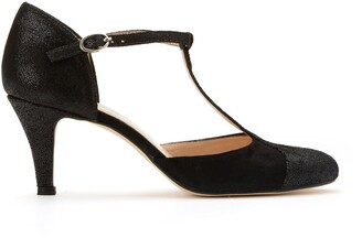 Jonak Leather T-Bar Shoes