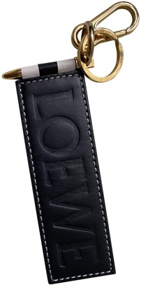 Loewe Black Leather Bag charms
