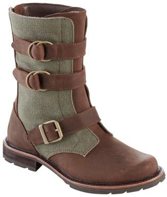 L.L. Bean L.L.Bean Women's Old Port Boots, Mid Leather Canvas