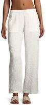 Onia Mila Wide-Leg Coverup Pants, White