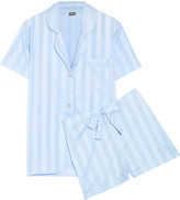 Bodas Shadow Stripe cotton pajama set