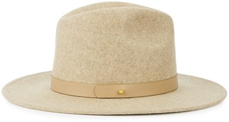 LACK OF COLOR Carlo Mack Taupe Wool Fedora