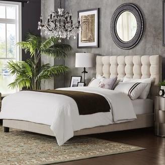 BEIGE Neher Upholstered Platform Bed Brayden Studio Headboard Color: Beige, Size: Eastern King