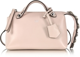 Fendi Soft Pastel Pink Leather Mini By The Way Boston Bag w/Smoky Quartz Crystals