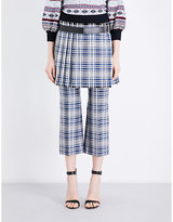 Alexander McQueen Pleated wool-tartan mini skirt