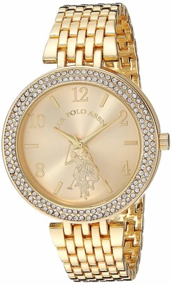 U.S. Polo Assn. Women's Stainless Steel Quartz Watch with Alloy Strap
