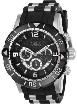 Invicta Men's 23696 Pro Diver Black Dial Steel and Polyurethane Strap Chronograph Dive Watch