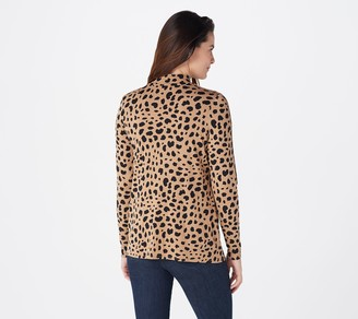 Laurie Felt Rayon Made From Bamboo Blend Long-Sleeve Mock-Neck Top
