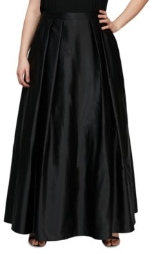 Alex Evenings Plus Size Satin Ball Gown Skirt