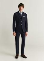 MANGO MAN - Slim fit Tailored striped shirt white - S - Men