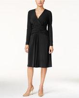 Thalia Sodi Ruched Faux-Wrap Dress, Only at Macy's
