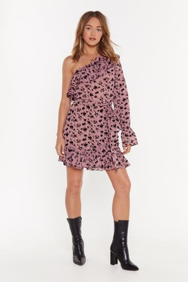 Nasty Gal Womens Time To Flourish One Shoulder Floral Dress - Pink - 4, Pink