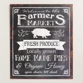Metal Farmers Market Sign