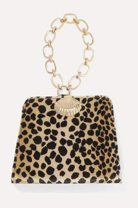 Rixo Amelie Animal-print Velvet Tote - Light brown