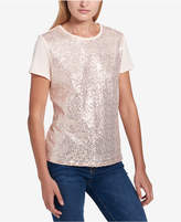 Tommy Hilfiger Sequin-Front T-Shirt, Created for Macy's