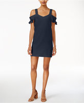 Bar III Cold-Shoulder Shift Dress, Only at Macy's