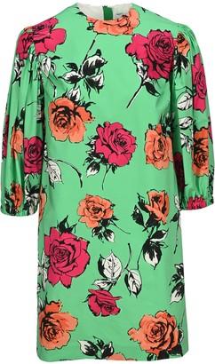 MSGM Floral Printed Mini Dress