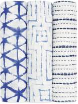 Aden and Anais Infant Boys' Indigo Silky Swaddles, 3 Pack